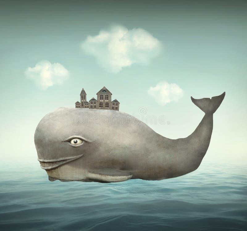 幻想鲸鱼 皇族释放例证