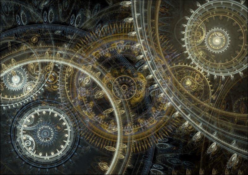 幻想steampunk设计 向量例证