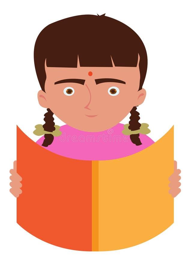 愉快儿童例证读取年轻人 向量例证