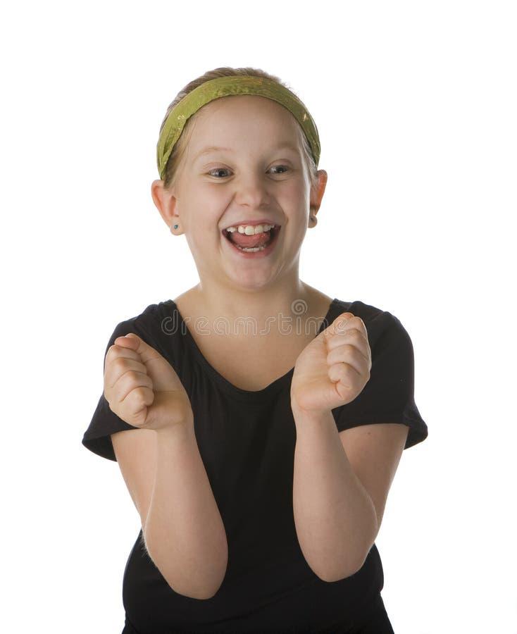 愉快兴奋的女孩 库存图片