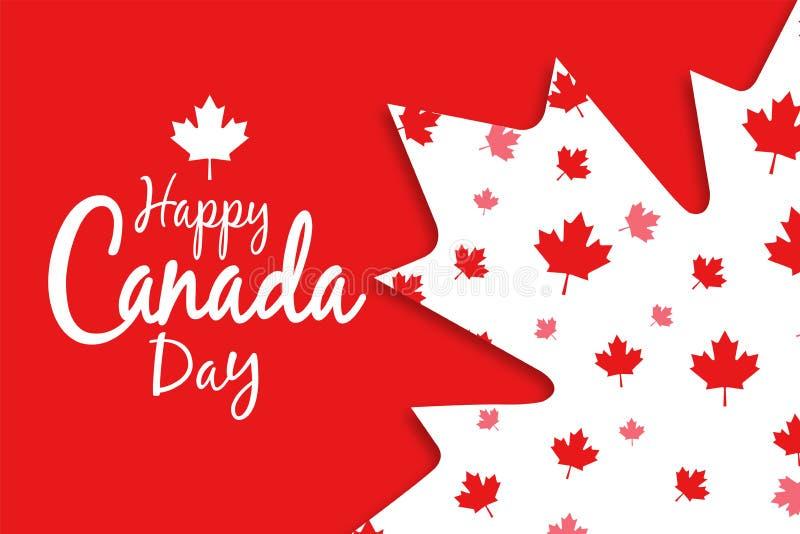 愉快加拿大的日 皇族释放例证