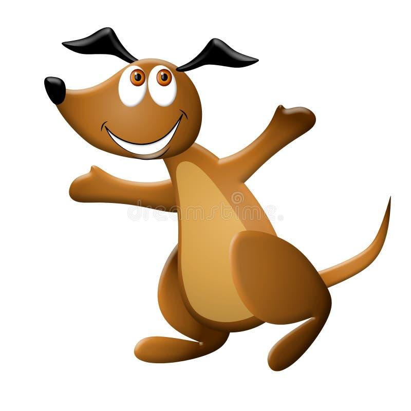 愉快动画片的狗 皇族释放例证