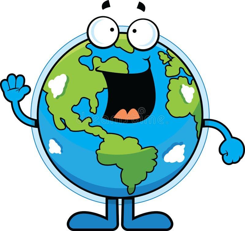 愉快动画片的地球 向量例证