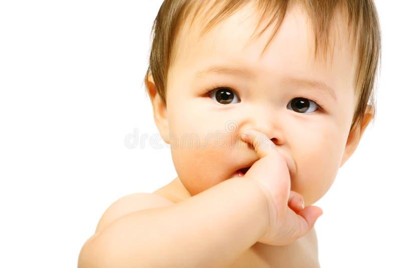 愉快可爱的婴孩 库存图片