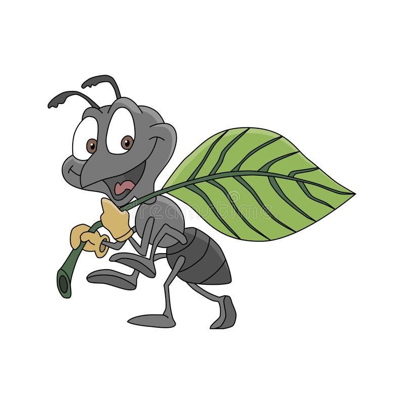 愉快和工作的蚂蚁 向量例证