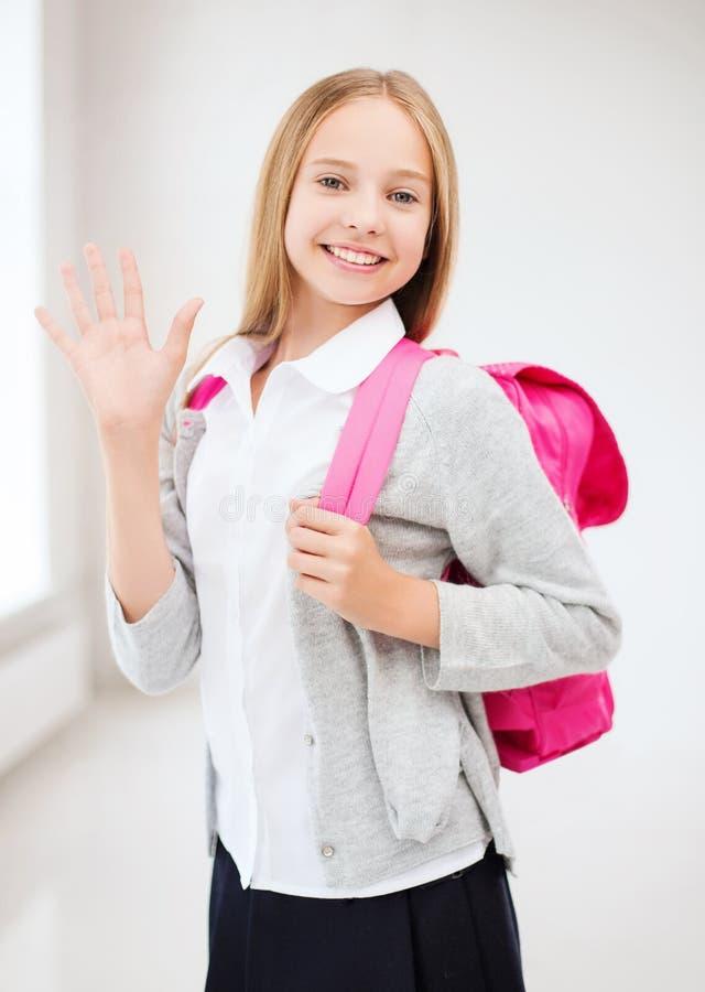 愉快和微笑的十几岁的女孩 库存照片