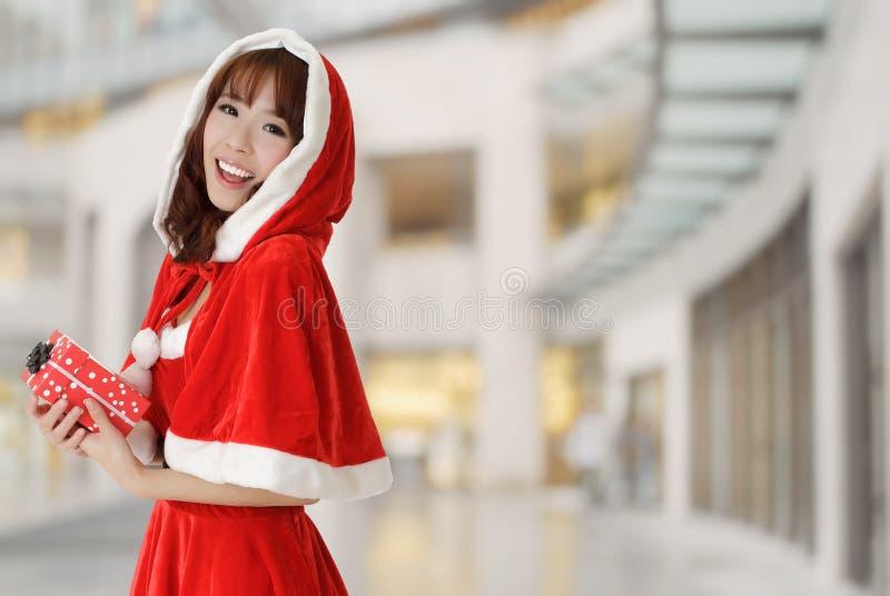 愉快圣诞节的女孩 库存照片