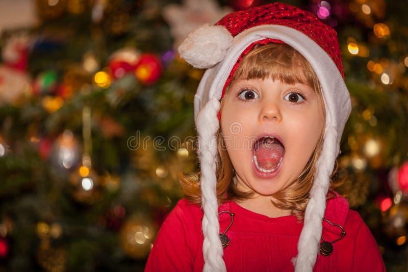 愉快圣诞节的女孩 图库摄影