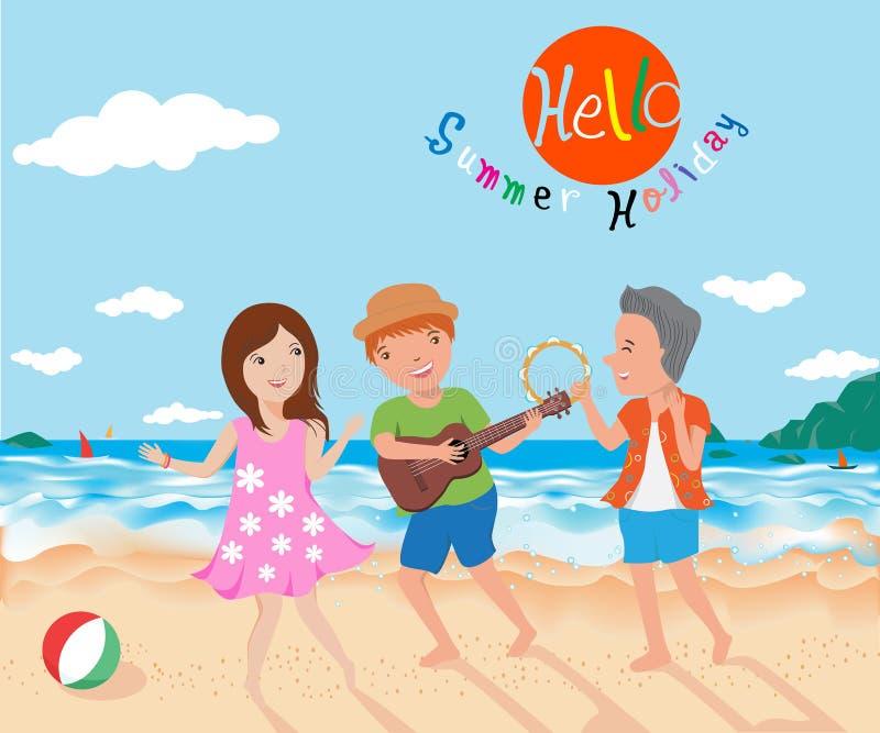 Download 愉快在夏天传染媒介例证 向量例证. 插画 包括有 以图例解释者, 跳舞, 幸福, 友谊, 生活方式, 图象 - 59107124