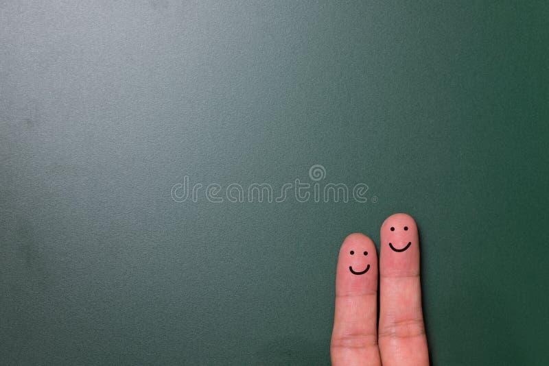 愉快夫妇的手指 库存照片