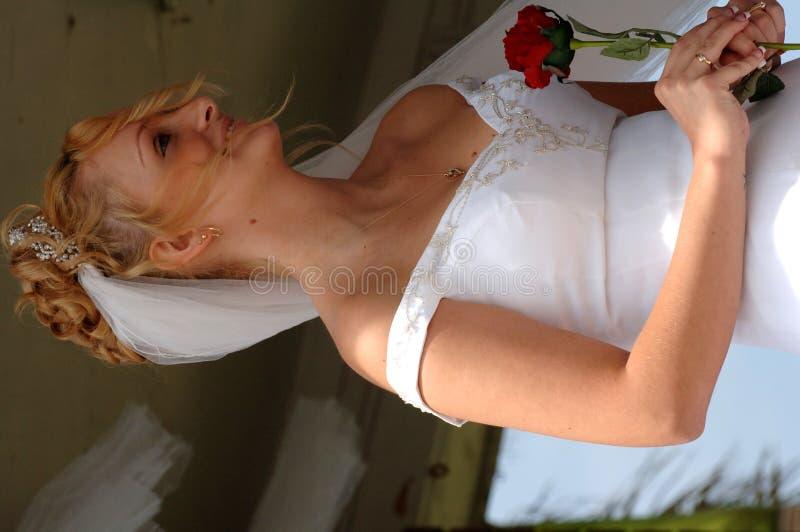 愉快新娘的仪式 免版税库存照片