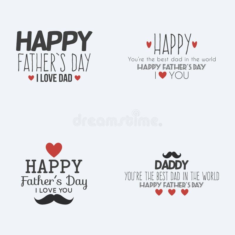 愉快日的父亲 向量例证