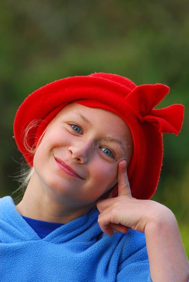 愉快滑稽的女孩一点 库存照片