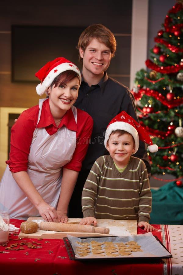 愉快烘烤的蛋糕圣诞节的系列一起 库存图片