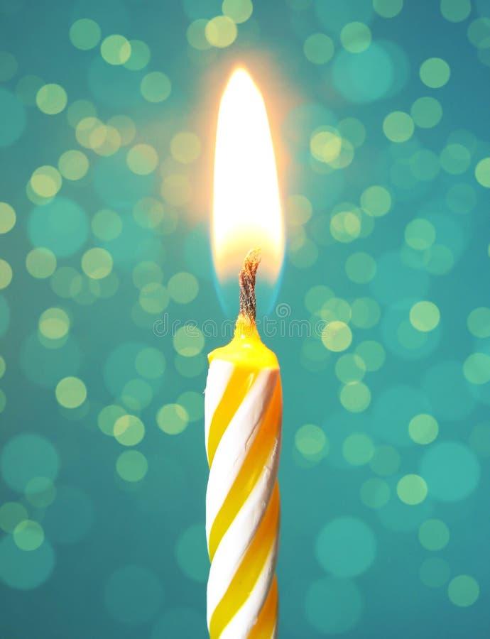 愉快生日的蜡烛 库存图片