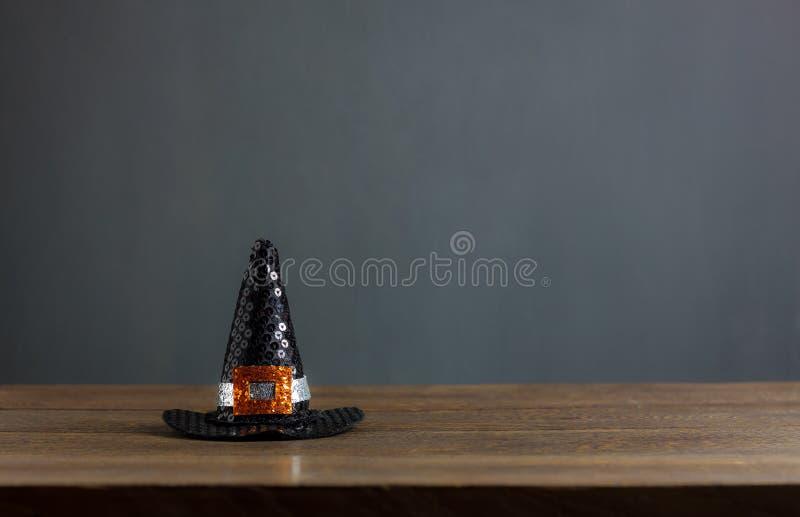 愉快的万圣夜装饰节日概念背景 免版税库存图片