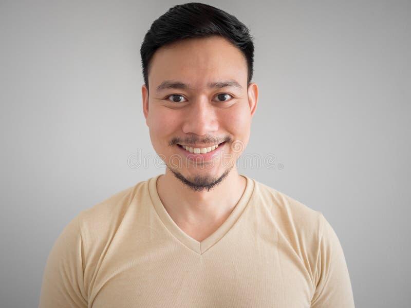 愉快的亚裔人特写  库存图片