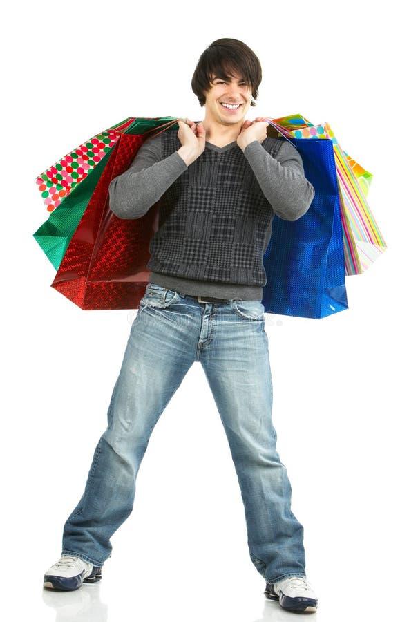 愉快的人购物 免版税库存照片