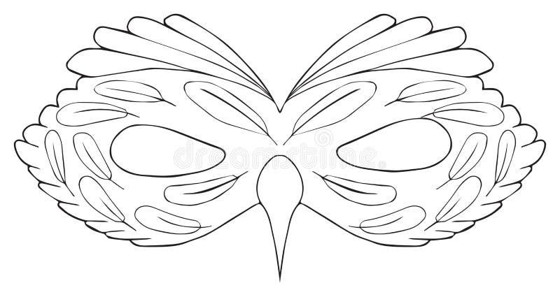 愉快的假日-鸟面具与触毛的 向量例证