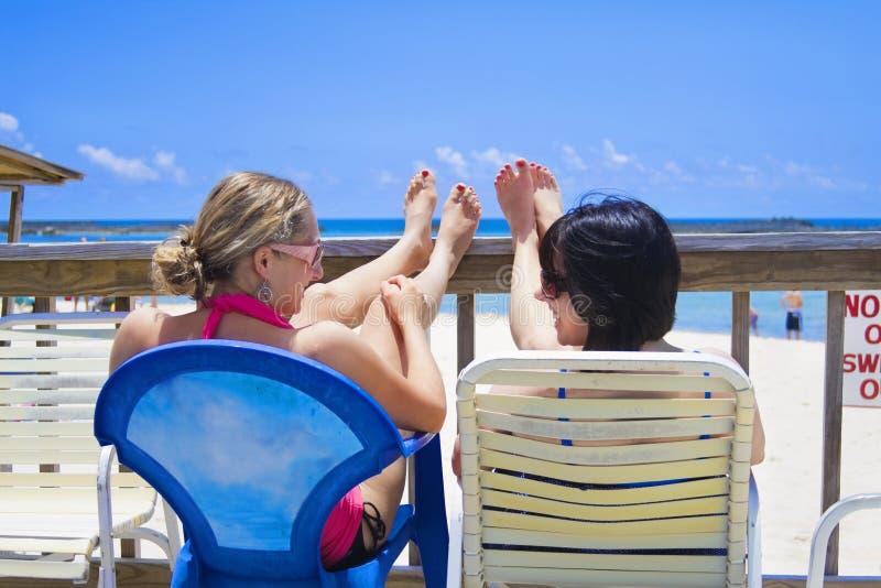 愉快的假期妇女 免版税库存图片