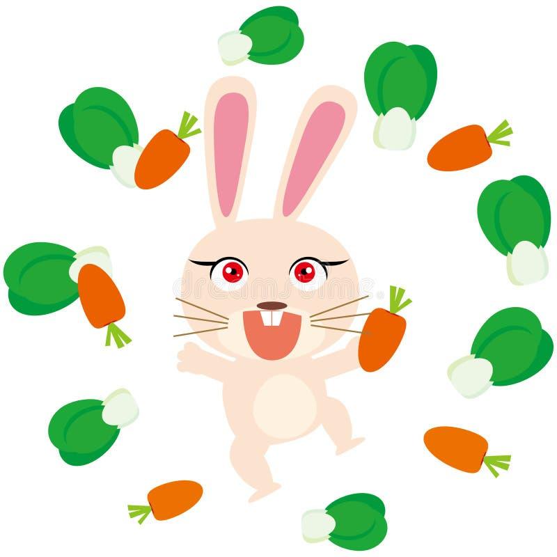 愉快的兔子 向量例证