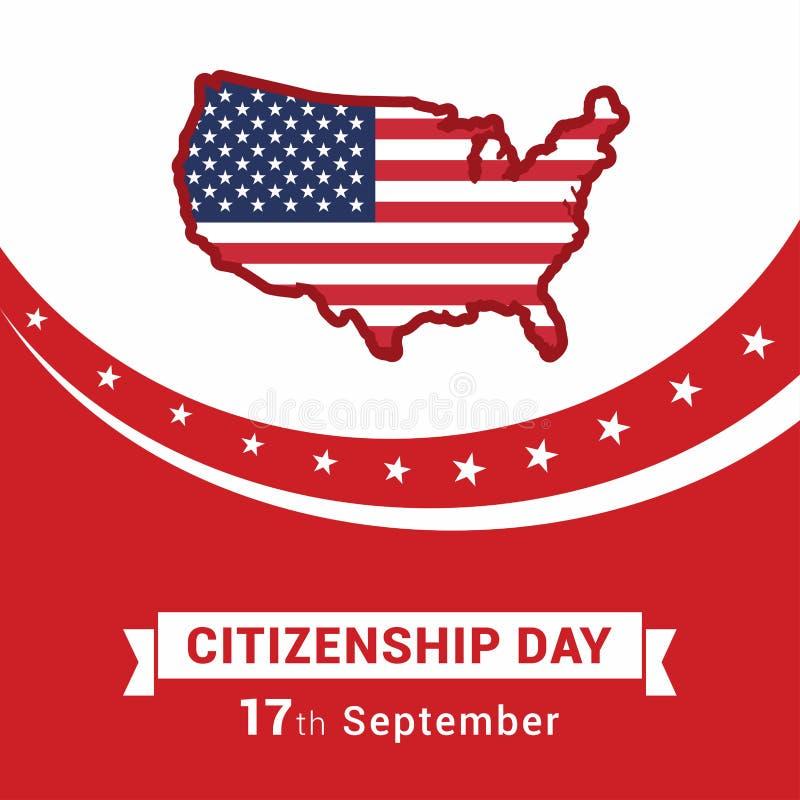 愉快的公民身份设计传染媒介 库存例证