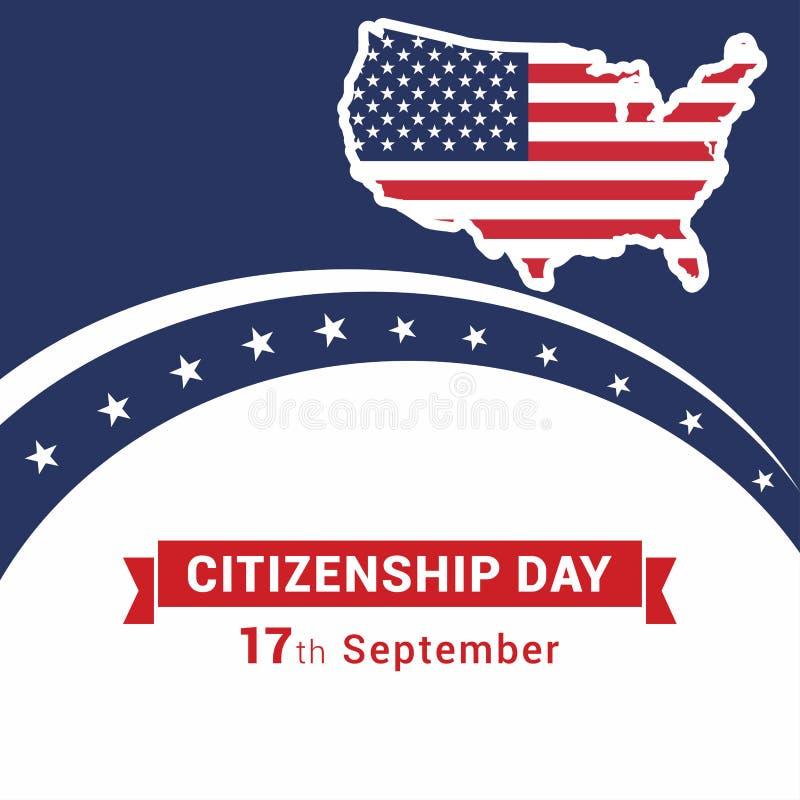 愉快的公民身份设计传染媒介 向量例证