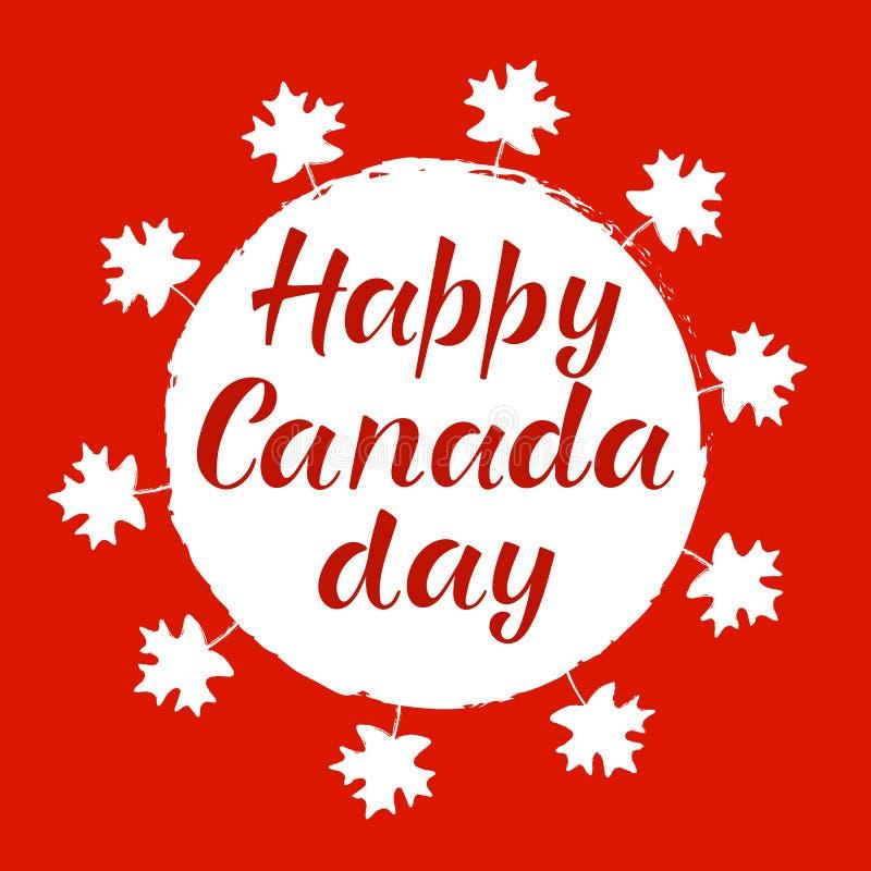 愉快的加拿大天现实红槭叶子 免版税库存图片