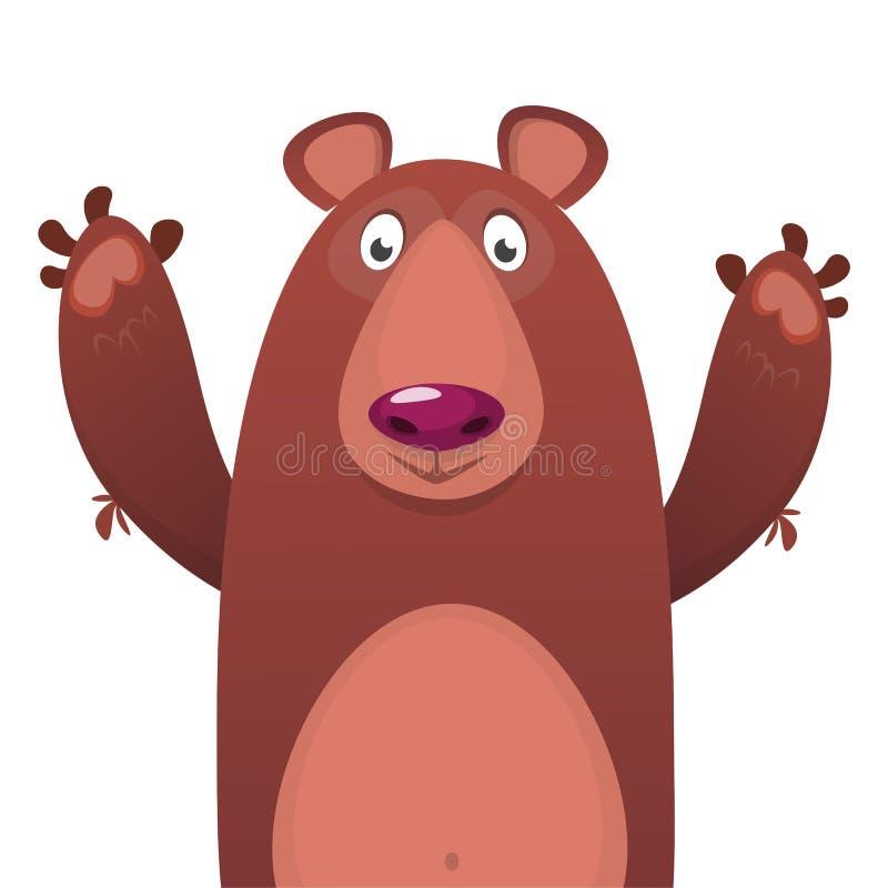 愉快的动画片熊 传染媒介剪贴美术例证 向量例证