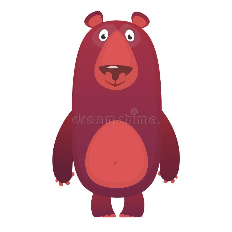 愉快的动画片熊 传染媒介被隔绝的棕熊的剪贴美术例证 皇族释放例证