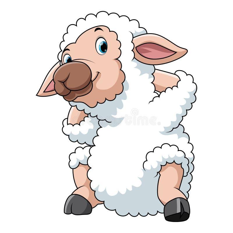 愉快的动画片绵羊 向量例证