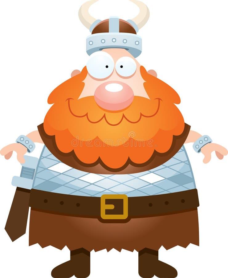 愉快的动画片北欧海盗 向量例证