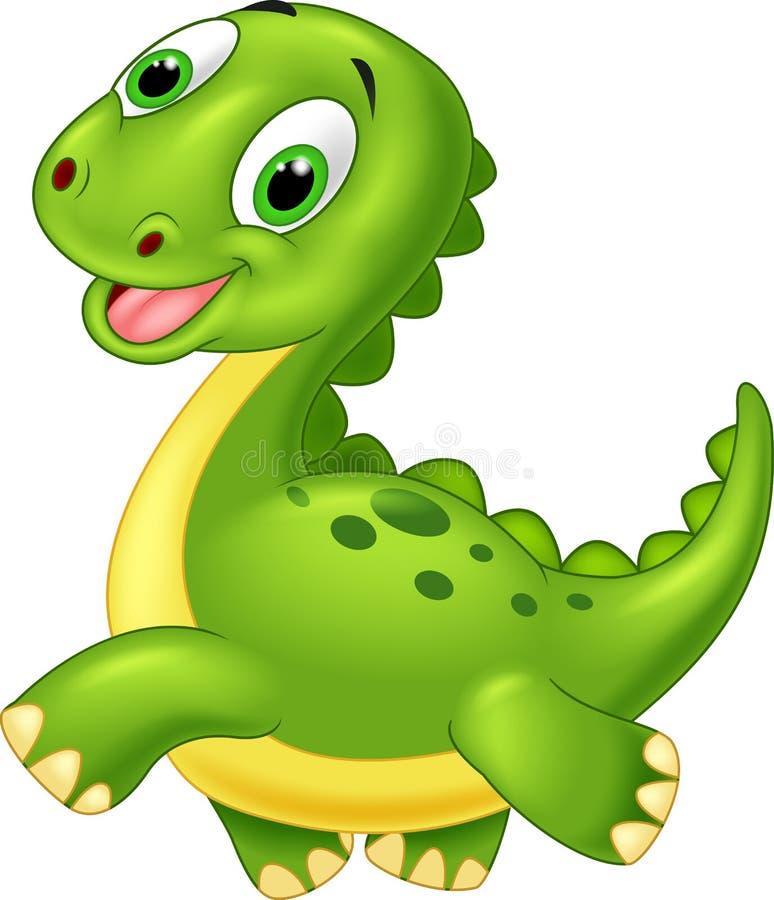 愉快的动画片恐龙 皇族释放例证