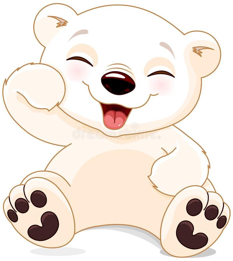 愉快的北极熊 库存例证