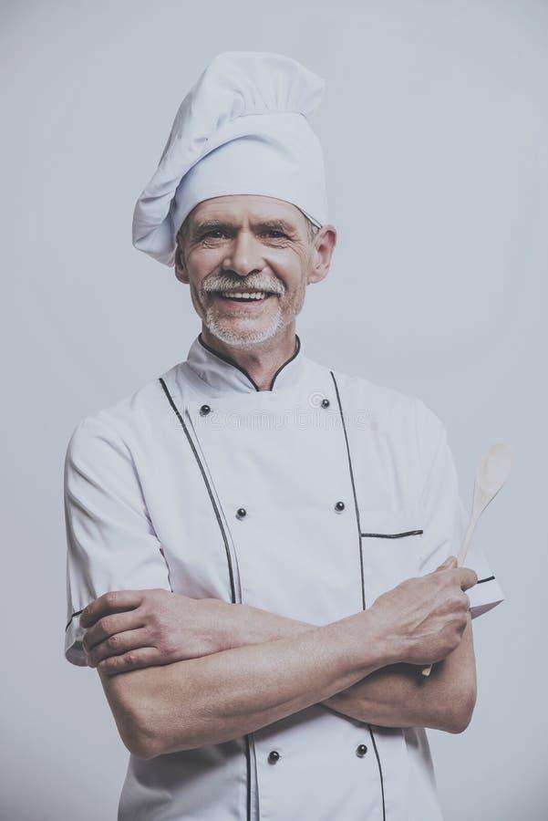 愉快的厨师厨师画象  免版税图库摄影