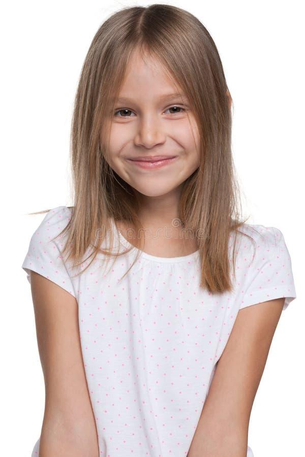 愉快的可爱的女孩 图库摄影