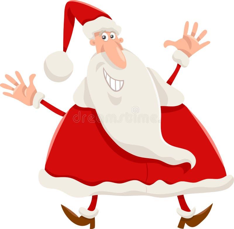 愉快的圣诞老人动画片 库存例证