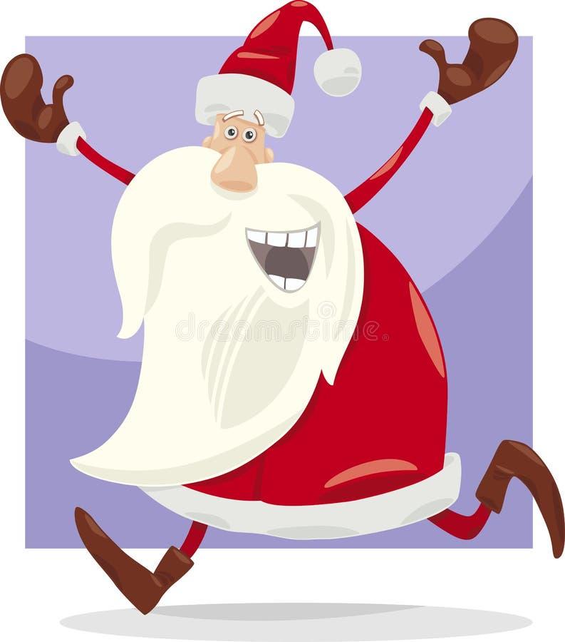 愉快的圣诞老人动画片 皇族释放例证