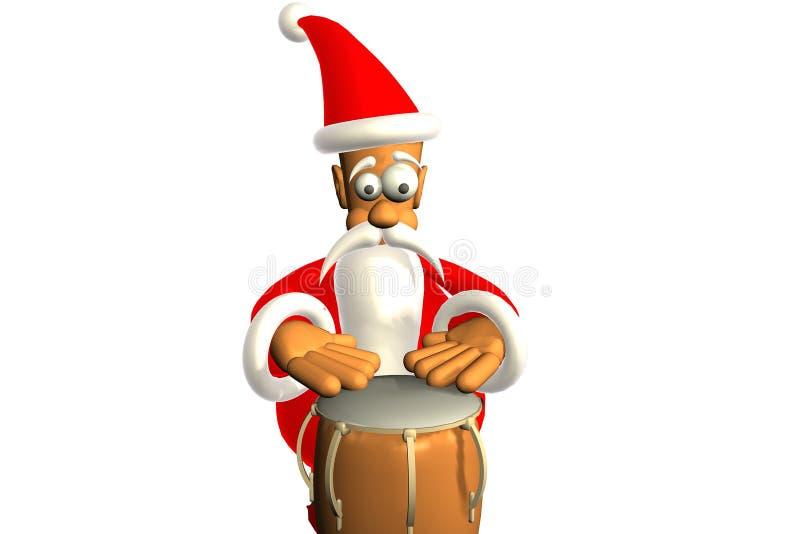 愉快的圣诞老人 库存例证
