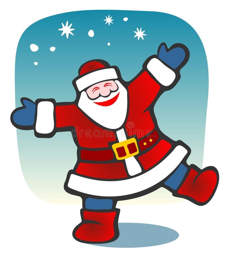 愉快的圣诞老人 向量例证