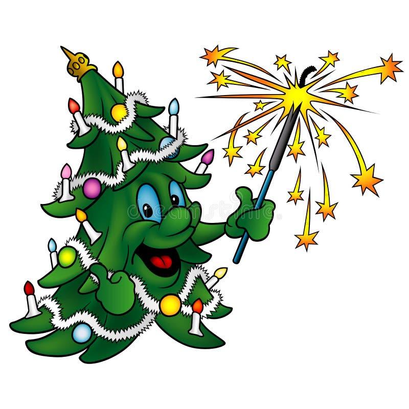 愉快的圣诞节树 皇族释放例证