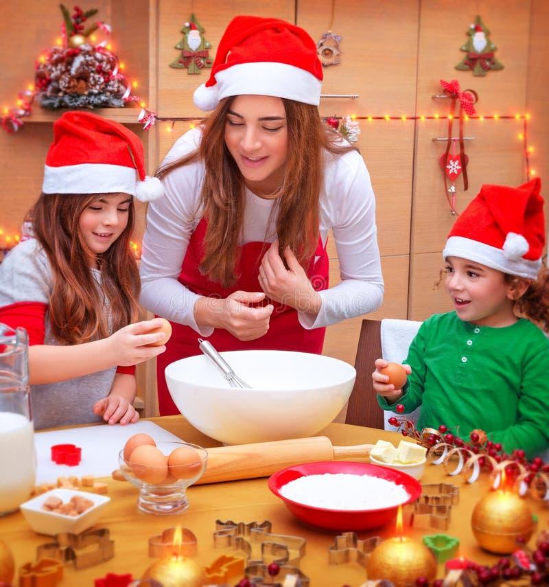 愉快的圣诞节烹调 库存照片