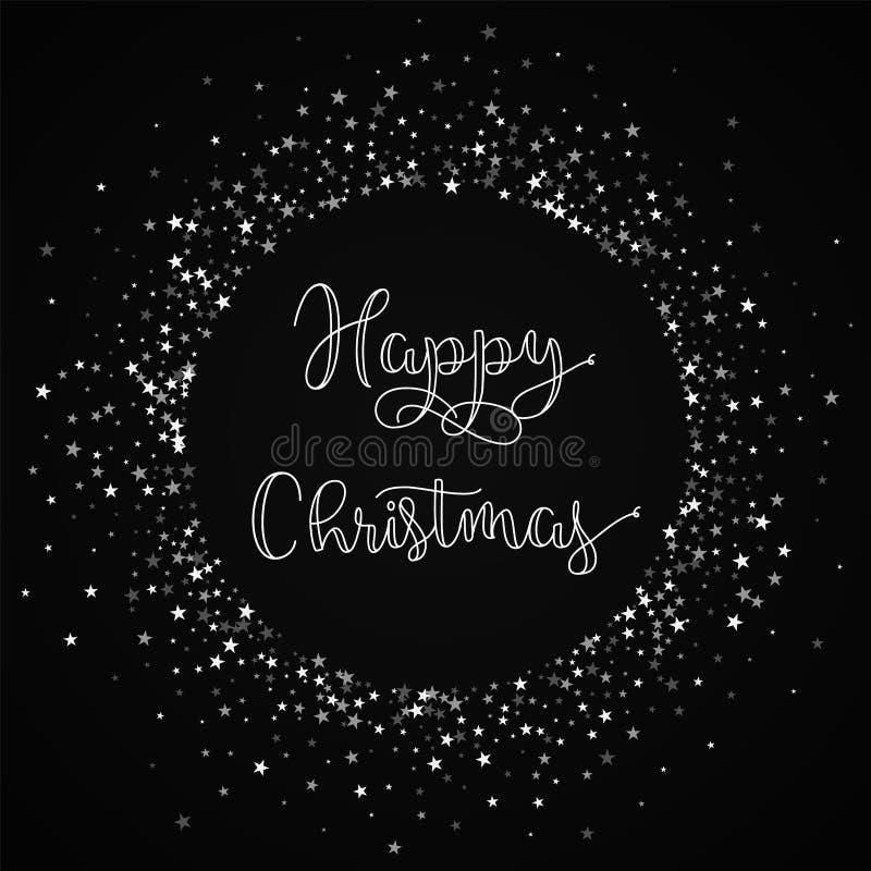 愉快的圣诞节贺卡 向量例证