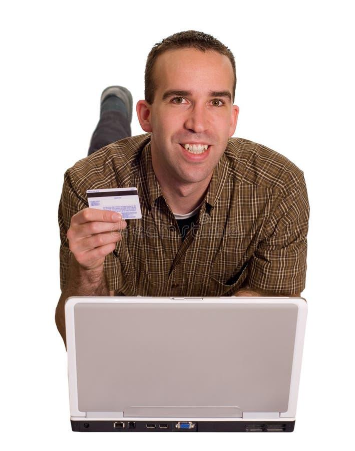 愉快的在线顾客 图库摄影