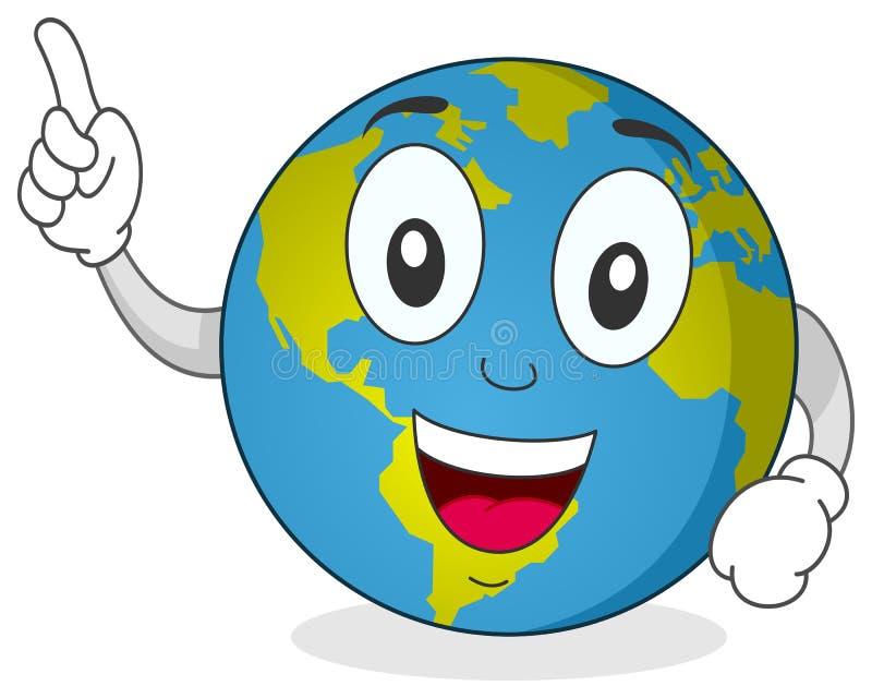 愉快的地球字符 向量例证