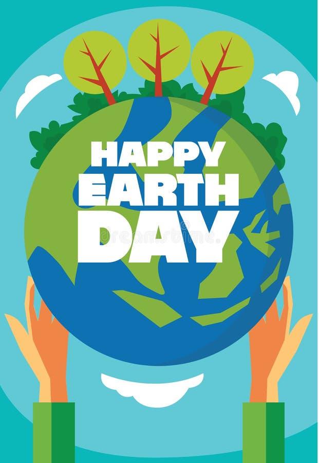 愉快的地球日贺卡4月22日除地球外的 图库摄影