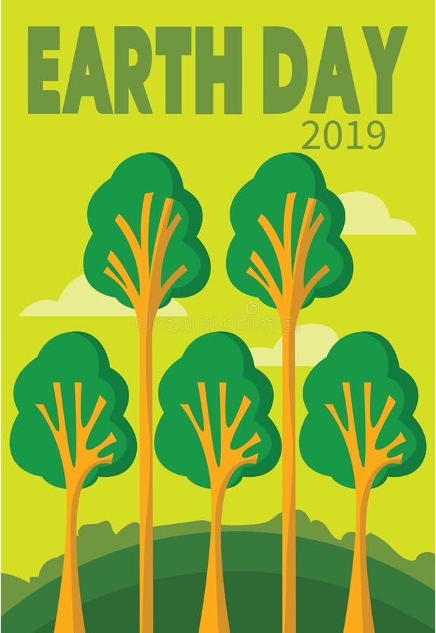 愉快的地球日贺卡4月22日除地球外的 免版税图库摄影