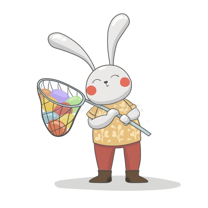 愉快的复活节兔子 向量例证