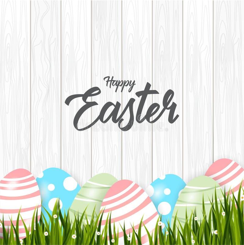 愉快的复活节背景用鸡蛋 皇族释放例证