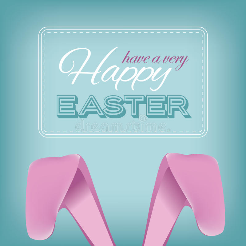 愉快的复活节兔子耳朵设计 向量例证